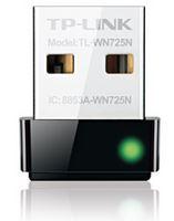TL-WN725N-TP-Link TL-WN725N N150 Nano Wireless N USB Adapter 2.4GHz (150Mbps) 1xUSB2 802.11bgn Internal Antenna miniature design for Notebook Laptop