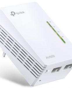 TL-WPA4220-TP-Link TL-WPA4220 AV600 600Mbps 2-Ports Powerline Wi-Fi Adapter Range Extender HomePlug AV 2x100Mbps LAN 2.4GHz 802.11b/g/n 300m Range