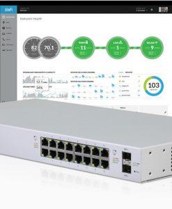 US-16-150W-AU-Ubiquiti UniFi 16-port Managed PoE+ Gigabit Switch with SFP 150W