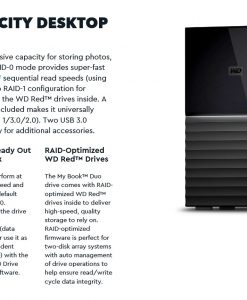 WDBFBE0080JBK-AESN-WD My Book Duo 8TB Desktop RAID External Hard Drive USB 3.1 Gen2