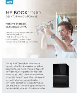 WDBFBE0160JBK-AESN-WD MY BOOK DUO 16TB (2 x 8TB)