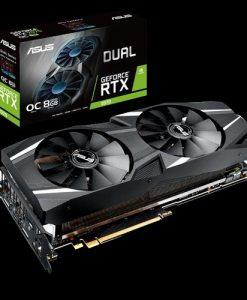 DUAL-RTX2070-O8G-ASUS DUAL-RTX2070-O8G GeForce RTX2070 OC Edition 8GB GDDR6 Graphics Card
