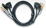 2L-7D03U-Aten DVI KVM Cable with Audio 3M