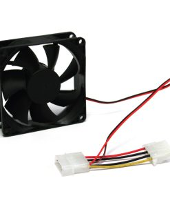 80SFAN-80mm Silent Case Fan - Keeps case and component cool. Molex Connector. Bulk Pack. No Screw included. Molex 4pin (LS)