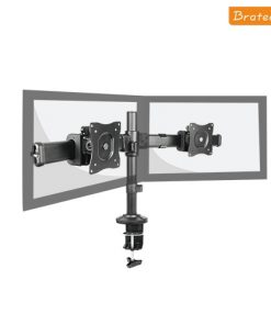 "LDT06-C02-Brateck Dual Monitor Arm with Desk Clamp VESA 75/100mm 13""-27"" monitors"