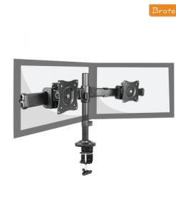 """LDT06-C02-Brateck  Dual Monitor Arm with Desk Clamp VESA 75/100mm Up to 27"""""""