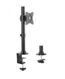 """LDT08-T01-Brateck Essential Single Monitor Desktop Stand for 13""""-27"""" LCD Monitors and Screens"""