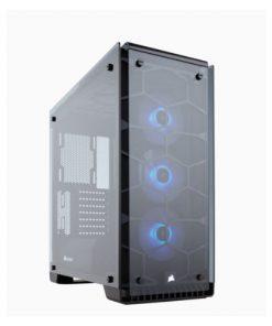 CC-9011098-WW-Corsair 570X RGB ATX Crystal Series. 3x 120mm RGB LED Fan