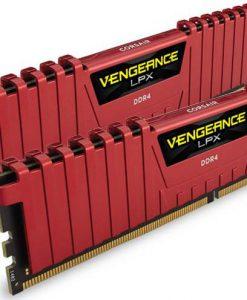 CMK16GX4M2A2400C16R-Corsair Vengeance LPX 16GB (2x8GB) DDR4 2400MHz C16 Desktop Gaming Memory Red