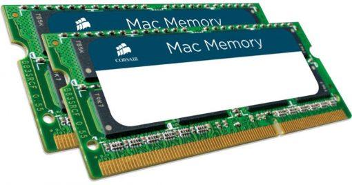 CMSA16GX3M2A1600C11-Corsair 16GB (2x8GB) DDR3L SODIMM 1600MHz 1.35V Memory for MAC Notebook Memory RAM