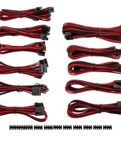 CP-8920155-For Corsair PSU - RED/BLACK  Professional Individually sleeved DC Cable Pro Kit
