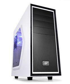 TESSERACT SW-WH-Deepcool Tesseract SW Mid Tower Case Side Window Includes 1 Blue 120mm LED Fan