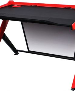 GD/1000/NR-DXRacer 1000 Series Gaming Desk - Black & Red