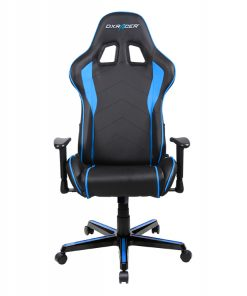 OH/FL08/NB-DXRacer Formula FL08 Gaming Chair Black & Blue - Sparco Style Neck/Lumbar Support/NB Gaming/Office/Ergonomic Desk Chair/Black PU Leather