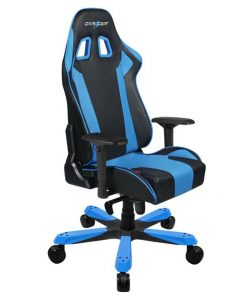 OH/KS06/NB-DXRacer King KS06 Gaming Chair Black & Blue - Neck/Lumbar Support/PU Leather/Large Size Seat/Office/Gaming Ergonomic/Head and Lumbar Support Pillows