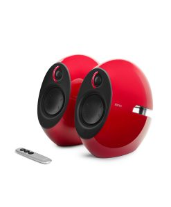 E25HD-RD-Edifier E25HD LUNA HD Bluetooth Speakers Red - BT/3.5mm/Optical DSP 74W