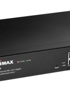 ES-5208P-Edimax 8-Port 10/100M PoE+ WebSmart Switch + 2 Giga SFP Combo (150W)