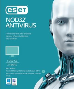 AV-ES-NOD32R2Y-ESET NOD32 Antivirus 1 Device 2 Years Retail Physical Printed Download Card