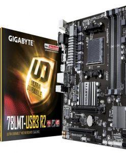GA-78LMT-USB3 R2-Gigabyte GA-78LMT-USB3 R2  mATX MB AM3+ 4xDDR3 VGA DVI HDMI GbE LAN 2xPCIe 1xPCI 6xSATA3 RAID 4xUSB3.1 8xUSB2 ~GA-970A-D3P