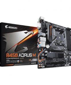 GA-B450-AORUS-M-Gigabyte B450 AORUS M AMD Ryzen Gen3 AM4 mATX Motherboard 4xDDR4 3xPCIE 1xM.2 DVI HDMI RAID GbE LAN 6xSATA 8xUSB3.1 CF RGB