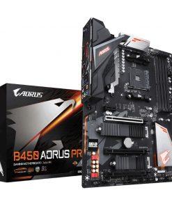 GA-B450-AORUS-PRO-Gigabyte B450 AORUS PRO AMD Ryzen Gen3 AM4 ATX Motherboard 4xDDR4 4xPCIE 2xM.2 DVI HDMI RAID Intel GbE LAN 6xSATA 1xUSB-C 7xUSB3.1 RGB Fusion