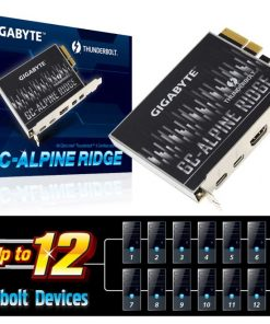 GC-ALPINE-RIDGE V2-Gigabyte Alpine Ridge V2 Dual Thunderbolt 3 Card for H270 Z270 Z370 X299 Series 3 Ports USB-C 40 Gb/s DisplayPort 1.2 4K Daisy-chain up to 12 Devices