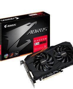 GV-RX580AORUS-4GD-Gigabyte AMD Radeon RX580 AORUS 4GB DDR5 PCIe Video Card 8K 7680x4320 5xDisplays DVI HDM 3xDP 1380/1365MHz RGB Windforce 2X CrossFire Ex-Demo