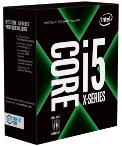 BX80677I57640X-Intel Core X i5-7640X 4.0Ghz (4.2GHz Turbo) LGA2066 7th Gen 6MB 4-Core 4-Thread 112W Unlocked X299 MB Required Retail Box no heatsink fan LS