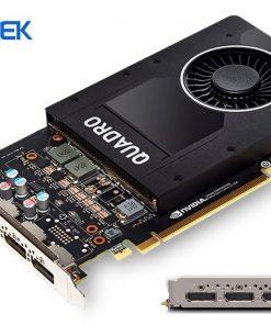 P2000-Leadtek nVidia Quadro P2000 PCIe Workstation Card 5GB DDR5 4xDP 1.4 4x5120x2880@60Hz 160-Bit 140GB/s 1024 Cuda Core Single Slot LS-> VCL-P2200