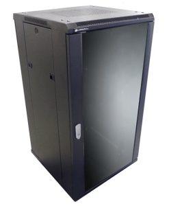 NCB18-66-BDA-LinkBasic 18RU 600mm Depth Server Rack Glass Door with 2x240v Fans and 8-Port 10A PDU