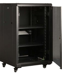 NCB18-68-DDA-LinkBasic 18U 800mm Depth Server Rack Mesh Door with 4x240v Fans and 8-Port 10A PDU