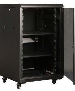 NCB18-68-DDA-LinkBasic 18RU 800mm Depth Server Rack Mesh Door with 4x240v Fans and 8-Port 10A PDU