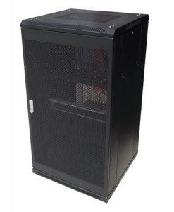 NCB22-68-DDA-LinkBasic 22RU 800mm Depth Server Rack Mesh Door with 4x240v Fans and 8-Port 10A PDU