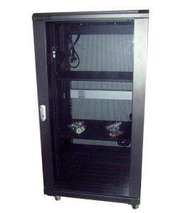 NCB22U-610-BDA-LinkBasic 22RU 1000mm Depth Server Rack Smoke Glass Door with 4 x 240v Fans and 8-Port 10A PDU