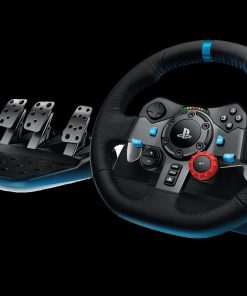 941-000115-Logitech G29 Driving Force Racing Wheel PS3  PS4 Dual motor force feedback Helical gearing with anti-backlash 900° steering