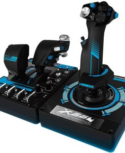945-000058-Logitech G X56 H.O.T.A.S. RGB Throttle & Stick Simulation Controller 6 DOF Pitch Roll Yaw Back Forward Up Down Left Right 4 Springs 189+ Programable