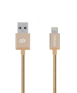 """MB-ICA-GLD-mbeat® """"Toughlink""""1.2m Lightning Fast Charger Cable - Gold/Durable Metal Braided/MFI/Apple iPhone X 11 7S 7 8 Plus XR 6S 6 5 5S iPod iPad Mini Air"""