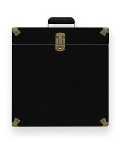 MB-TRC-01-mbeat Vinyl Record Storage Carrier Case (Vintage Black) (LS)
