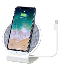 MB-WCS-01-mbeat Aurora 10W Dual Coil Aluminium Wireless Charging Stand - Allows Vertical and Horizontal Placement/Mobile Stand/Supports Quick Charge Input