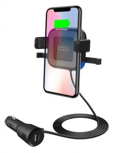 MB-WCS-02-mbeat® Gorilla Power 10W Wireless Car Charger with 2.4A USB Charging