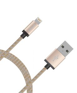 MB-iCAB-2G-mbeat® Lightning Cable with Gold Nylon Braided in 2m