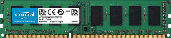 CT102472BD160B-Crucial 8GB (1x8GB) DDR3L 1600MHz ECC Unbuffered UDIMM