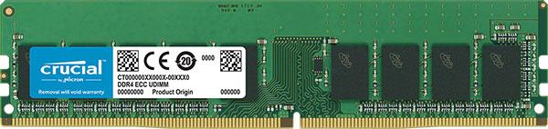 CT16G4WFD8266-Crucial 16GB (1x16GB) DDR4 UDIMM 2666MHz ECC Unbuffered CL19 Single Stick Server Desktop PC Memory RAM