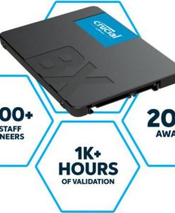 "CT480BX500SSD1-Crucial BX500 480GB 2.5"" SATA SSD - 3D NAND 540/500MB/s 7mm Acronis True Image"