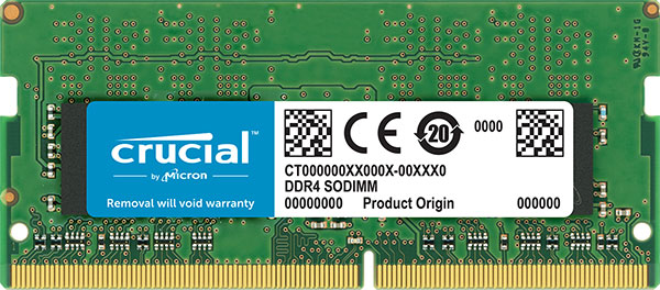 CT4G4SFS824A-Crucial 4GB (1x4GB) DDR4 SODIMM 2400MHz CL17 Single Stick Notebook Laptop Memory RAM