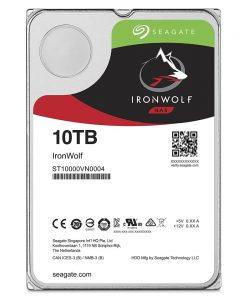 "ST10000VN0004-Seagate 10TB 3.5"" IronWolf  SATA3 NAS 24x7 7200RPM 256MB Cache. Performance HDD. 3 Years Warranty"