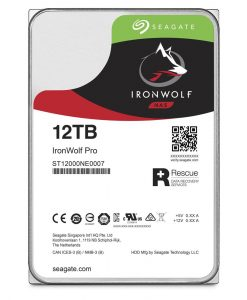 "ST12000NE0007-Seagate 12TB 3.5"" IronWolf PRO NAS SATA3 NAS 24x7 Performance 7200 RPM 256MB Cache HDD. (ST12000NE0007) 5 Years Warranty"