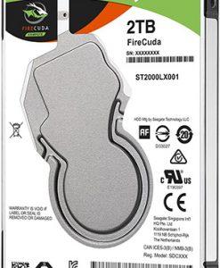 """ST2000LX001-Seagate 2TB 2.5"""" 7mm SSHD Laptop Firecuda 8GB NAND 5400RPM 6Gb/s 128MB Hybrid Hard Drive"""