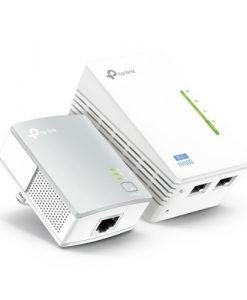 TL-WPA4220 KIT-TP-Link TL-WPA4220KIT 300Mbps AV500 Wi-Fi Powerline Extender Starter Kit 500Mbps HomePlug AV 300Mbps Wireless 2x100Mbps LAN 2.4GHz 802.11bgn 300m rang