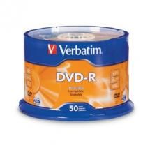 95211-Verbatim DVD-R4.7GB 16x 50Pk White Wide Thermal (Gloss)